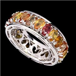 Natural Top Fancy Colors Sapphire Eternity Ring