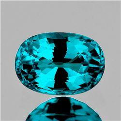 Natural Premium Electric Blue Zircon 4.90 Ct -Certified