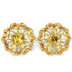 NATURAL ORANGISH YELLOW CITRINE Earrings