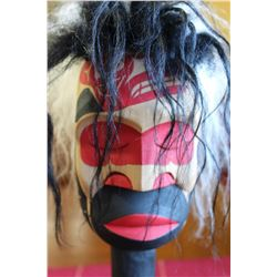 West Coast Native Whale Hunter Spirit Pook Oobs Rattle