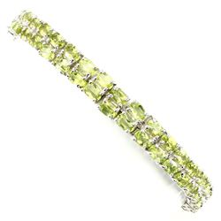 Natural  Top Rich Green Peridot 93.67 Ct  Bracelet
