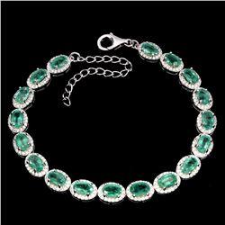 Natural Green Columbian Emerald Bracelet