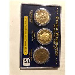 2007 George Washington presidential coin set 3 coin set
