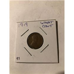 1919 wheat Penny