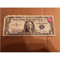 1957 B Series One Dollar Silver Certificate