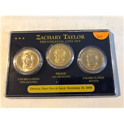 2009 Zachary Taylor Presidential dollar 3 coin set