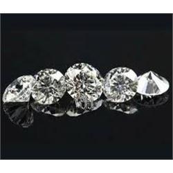 5 Total White DIAMONDS .01pt-.02pt All for 1 Money