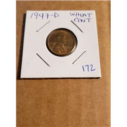 1947 D Wheat Penny Great Shine