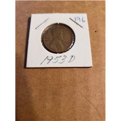 1953 D Wheat Penny