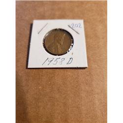 1958 D Wheat Penny