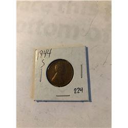1944 S Wheat Penny