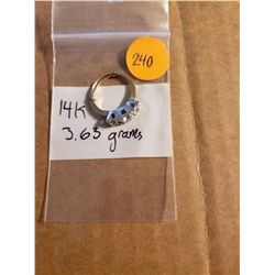 Beautiful 14K Gold Ring Total Weight 3 .63 Grams