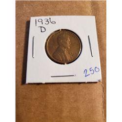 1936 D Wheat Penny