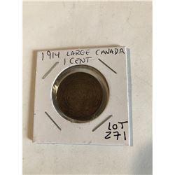 1914 Rare Canada Large Cent