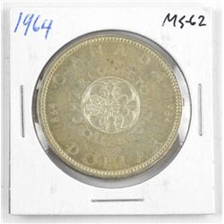 1965 Canada Silver Dollar. SB, B5 - MS62