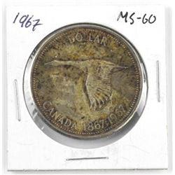 1967 Canada Silver Dollar. MS-60
