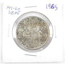 1965 CANADA Silver Dollar MS60. SB P5