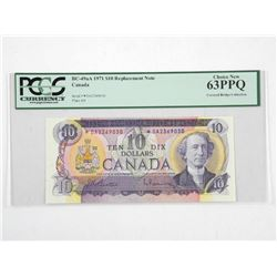 Bank of Canada 1971 * Replacement 10.00 (DA) B/R P