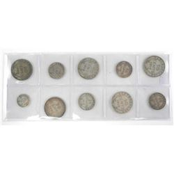 Lot (10) 925 Sterling Silver Coins NFLD