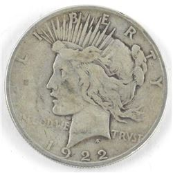 1922 USA Silver Peace Dollar