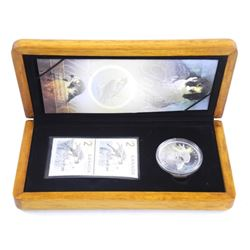 The Falcon .9999 Fine Silver $5.00 Coin and Stamp