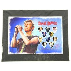 David Bowie - LE Guitar Pick Collection 11x14