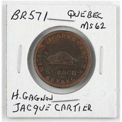 BR 571 - Quebec Token H. GAGNON Jacque Cartier MS-