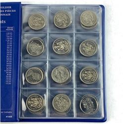 Lot (48) Canada 50 Cent. Uni Safe Book
