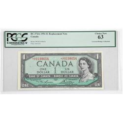 Bank of Canada 1954 Modified Portrait * Replacemen