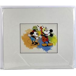 Disney - 'Mickey and Minnie' Hand Coloured and Pai