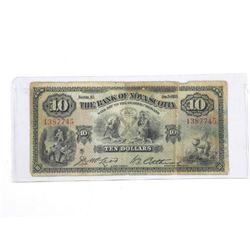 Bank of Nova Scotia Jan 1935 Ten Dollar Note