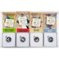 Lot (4) .999 Fine Silver $10.00 Coins 'Looney Tune