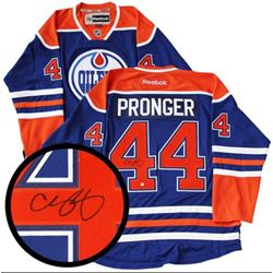 Chris Pronger - Oilers Jersey Signed with C.O.A. I