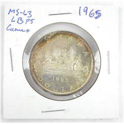 1965 CANADA Silver Dollar MS63. LB P5. Cameo