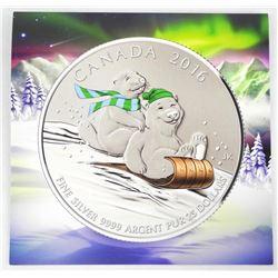.9999 Fine Silver Canada $25.00 Coin with Folio
