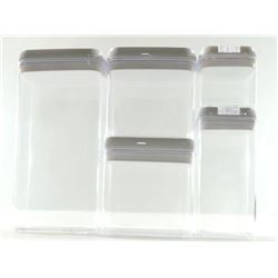 Food Storage Containers- 5-Piece Dry Food Containe