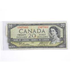 Estate Bank of Canada 1954 Twenty Dollar Note. Dev