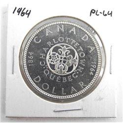 1964 Canada Silver Dollar. PL64