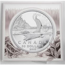 2015 .9999 Fine Silver 50 Dollar Coin in Folio
