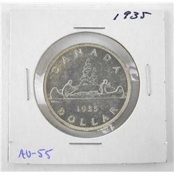1935 Canada Silver Dollars. AU-55