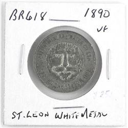 Token 1890 BR618 (VF) St. Leon White Metal