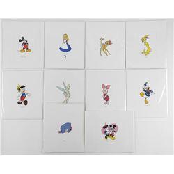 "Lot (10) Disney Serigraphics 4x6"""