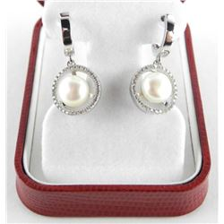 Ladies .925 Silver Earrings with Fresh Water Pearl