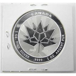 1867-2017 .9999 Fine Silver Canada 150 Coin, 1oz G