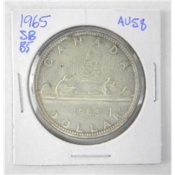 1965 Canada Silver Dollar. AU58. SB B5