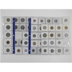 Lot World Coins (2x2) Sheets Identified - Estate E