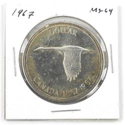 1967 Canada Silver Dollar. MS-64
