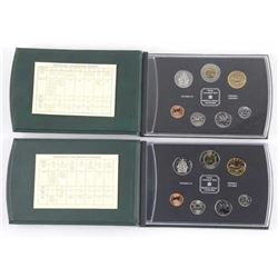 Lot (2) RCM Specimen Coin Sets. Estate 1999-2000