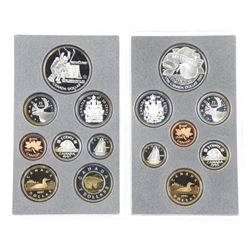 Lot (2) RCM Double Dollar Coin Sets, 1996 and 1997