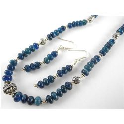 .925 Silver and Apatite Ladies Necklace and Matchi